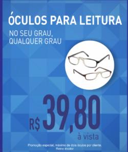 Promoção de Óticas e centros auditívos no folheto de Óticas do Povo em Nova Iguaçu