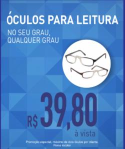 Promoção de Óticas e centros auditívos no folheto de Óticas do Povo em Volta Redonda