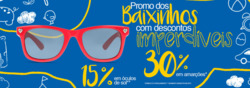 Promoção de Óticas e centros auditívos no folheto de Fototica em São Carlos