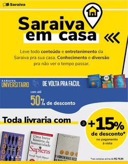 Ofertas Livraria, Papelaria e Material Escolar no catálogo Livraria Saraiva em Uberlândia ( 15 dias mais )