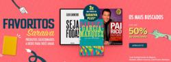 Promoção de Livraria, papelaria, material escolar no folheto de Livraria Saraiva em São José