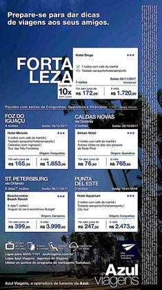 Promoção de Viagens, passeios, turismo no folheto de Azul em São Paulo