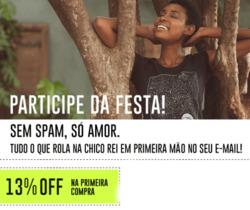 Promoção de Chico Rei no folheto de São Paulo