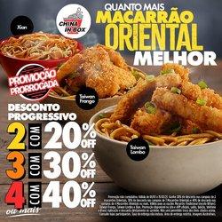 Ofertas Restaurantes no catálogo China in Box em Mauá ( Publicado a 3 dias )
