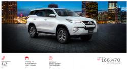 Promoção de Toyota no folheto de São Paulo