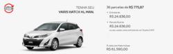 Promoção de Automóveis no folheto de Toyota em Teófilo Otoni