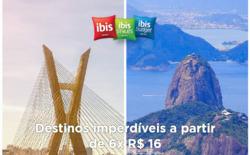 Promoção de Viagens, passeios, turismo no folheto de Ibis em Recife