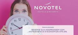 Promoção de Viagens, passeios, turismo no folheto de Novotel em São Paulo