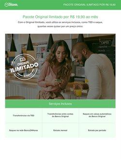 Ofertas Bancos e Serviços no catálogo Banco Original em Cotia ( 16 dias mais )