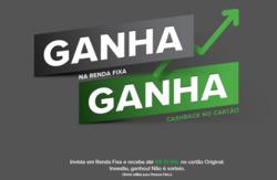 Promoção de Bancos e Serviços no folheto de Banco Original em São Paulo