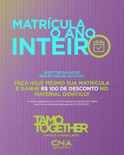 Ofertas Bancos e Serviços no catálogo CNA em Rio Verde ( 13 dias mais )