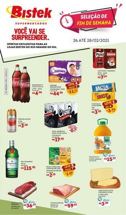 Ofertas Supermercados no catálogo Bistek Supermercados em Cachoeirinha ( Válido até amanhã )
