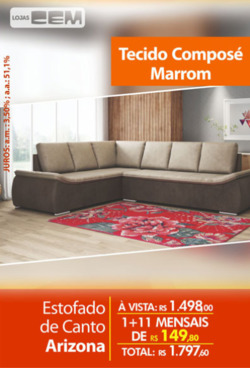 Promoção de Lojas Cem no folheto de Diadema