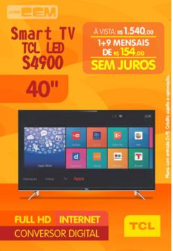 Promoção de Lojas Cem no folheto de Nova Iguaçu