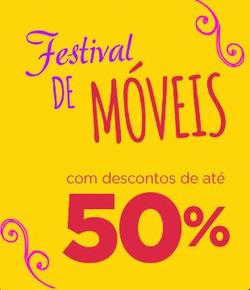 Promoção de Casas Bahia no folheto de Sete Lagoas