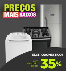 Promoção de Casas Bahia no folheto de Nossa Senhora do Socorro