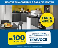 Promoção de Casas Bahia no folheto de Curitiba