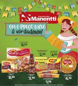 Ofertas de Supermercados Manentti no catálogo Supermercados Manentti (  Vence hoje)