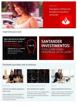 Ofertas Bancos e Serviços no catálogo Santander em Rio Verde ( Mais de um mês )