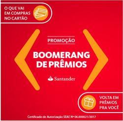 Promoção de Bancos e Serviços no folheto de Santander em Mauá