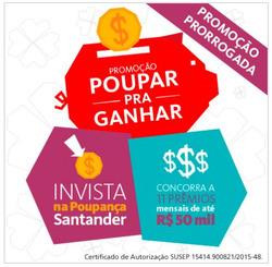 Promoção de Santander no folheto de São Paulo