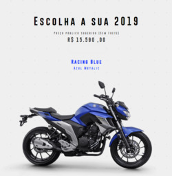 Promoção de Automóveis no folheto de Yamaha em Limeira