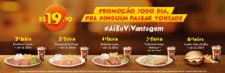 Promoção de Restaurantes, lanchonetes no folheto de Giraffas em São Vicente