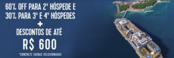 Promoção de Viagens, passeios, turismo no folheto de Royal Caribbean em São Paulo