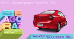 Promoção de Automóveis no folheto de Ford em Teófilo Otoni
