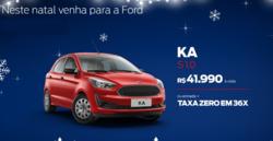 Promoção de Automóveis no folheto de Ford em Jaú
