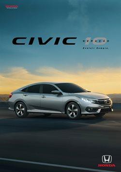 Promoção de Automóveis no folheto de Honda em Guarulhos