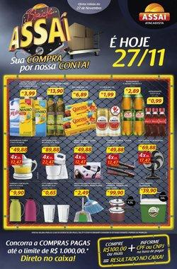 Ofertas Supermercados no catálogo Assaí Atacadista em Taboão da Serra ( Vence hoje )