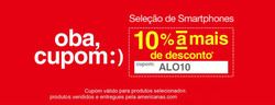 Promoção de Lojas Americanas no folheto de Curitiba