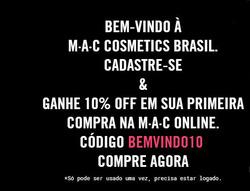 Promoção de MAC Cosmetics no folheto de São Paulo
