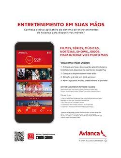 Promoção de Mapas no folheto de Avianca em São Paulo