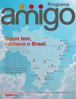 Promoção de Viagens à Europa no folheto de Avianca em São Paulo