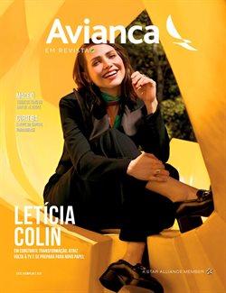 Promoção de Viagens, passeios, turismo no folheto de Avianca em Teófilo Otoni