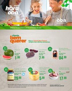 Ofertas Supermercados no catálogo Oba Hortifruti ( 2 dias mais )