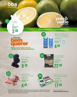 Ofertas Supermercados no catálogo Oba Hortifruti em Taboão da Serra ( Válido até amanhã )