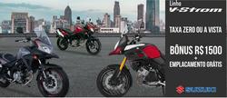 Promoção de Suzuki Motos no folheto de Teófilo Otoni