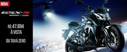 Promoção de Suzuki Motos no folheto de Goiânia