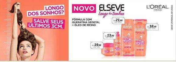 Oferta de Shampoo Elsève por R$18.49