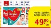 Oferta de Fraldas Supersec Jumbo Pampers por R$49.9