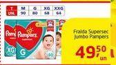 Oferta de Fralda Supersec Jumbo Pampers por R$49.5