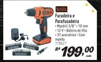 Oferta de Furadeira parafusadeira Black&Decker por R$199
