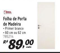 Oferta de Porta de madeira por R$89