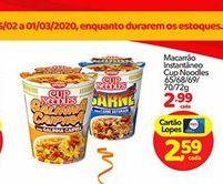 Oferta de Macarrão Cup Noodles por R$2.99