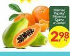 Oferta de Mamão Papaia/ Mexerica por R$2.98