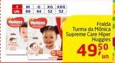 Oferta de Fralda Turma da Mónica Supreme Care Hiper Huggies por R$49.5