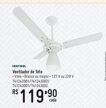 Oferta de Ventilador Ventisol por R$119.9